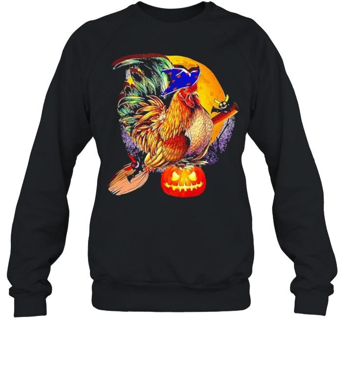 ROOSTER WITCH HAPPY HALLOWEEN SHIRT Unisex Sweatshirt