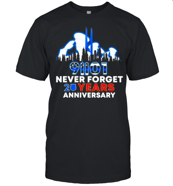 91101 Never Forget 20 Years Anniversary Police  Classic Men's T-shirt