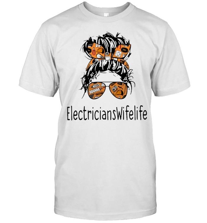 Electricians wife life mom shirt Classic Men's T-shirt