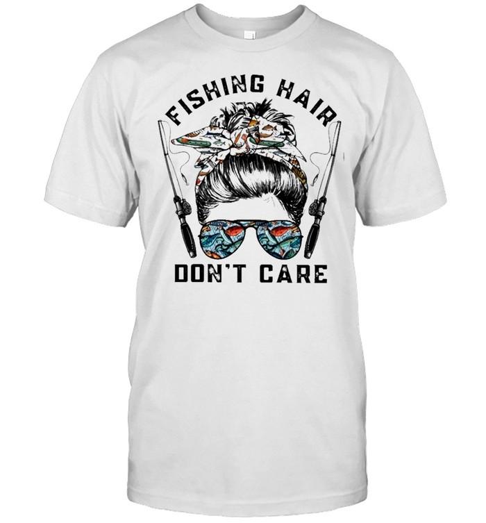 Fishing hair dont care fisher fishing rod shirt Classic Men's T-shirt