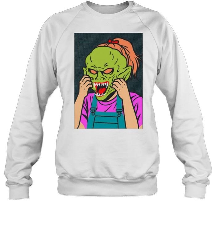 Girl Goosebumps shirt Unisex Sweatshirt
