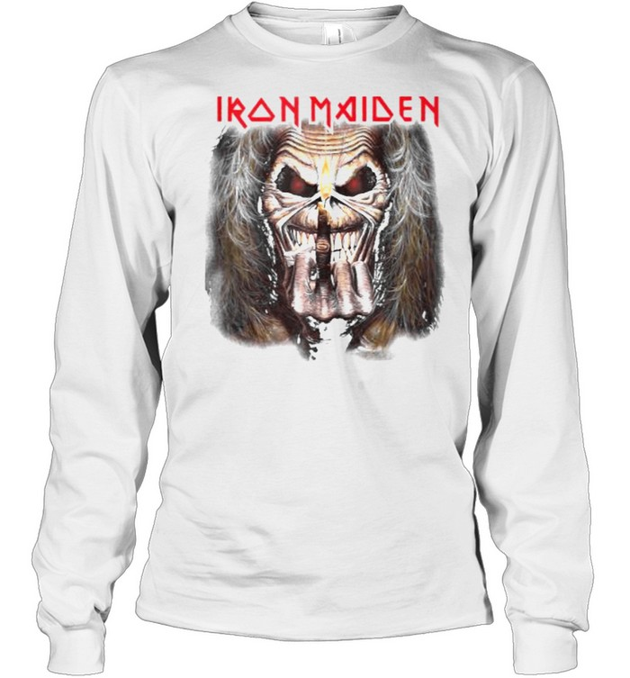 Iron Maiden – Candle Finger Eddie T- Long Sleeved T-shirt