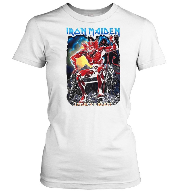 Iron Maiden Legacy of the Beast Devil T- Classic Women's T-shirt