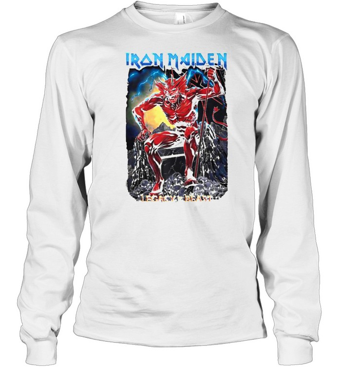 Iron Maiden Legacy of the Beast Devil T- Long Sleeved T-shirt