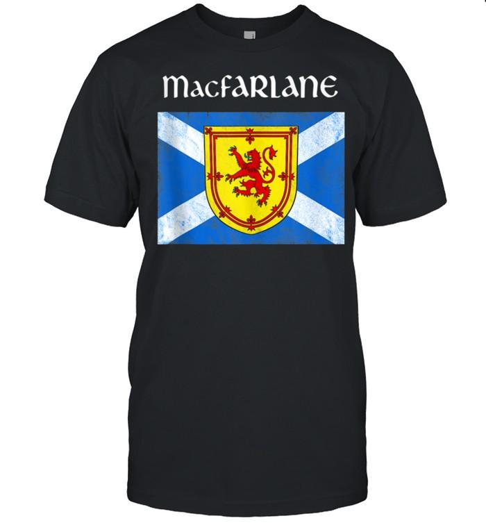 MacFarlane Clan Scottish Name Scotland Flag shirt Classic Men's T-shirt