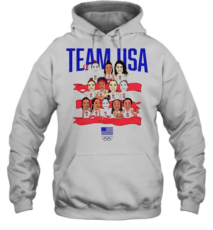 Team USA WBB Gold in Tokyo shirt Unisex Hoodie