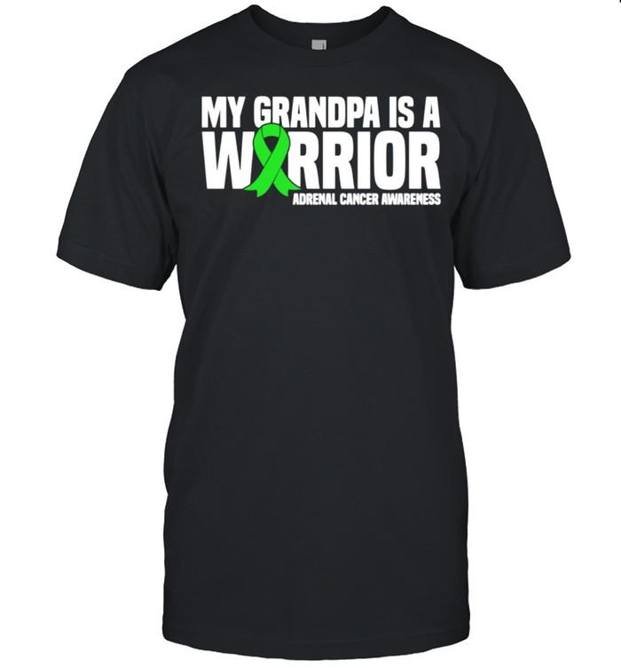 My Grandpa is a Warrior Adrenal Cancer Awareness shirt Classic Men's T-shirt