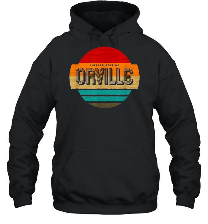 Herren Orville Name Retro Vintage Sonnenuntergang Limited Edition shirt Unisex Hoodie