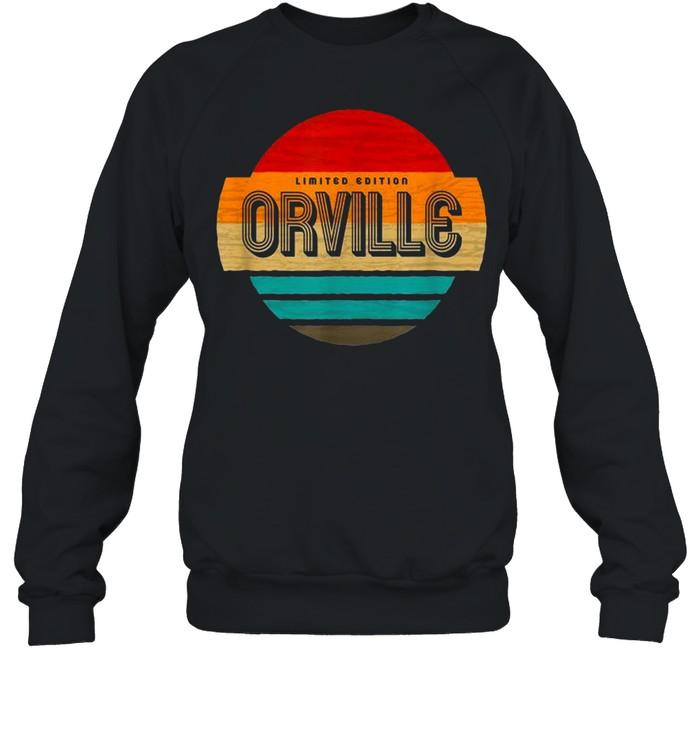 Herren Orville Name Retro Vintage Sonnenuntergang Limited Edition shirt Unisex Sweatshirt