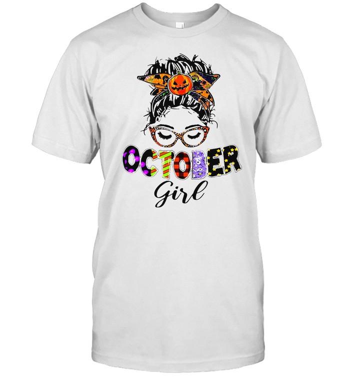 October Girl Happy Halloween T-Shirt Masswerks Store