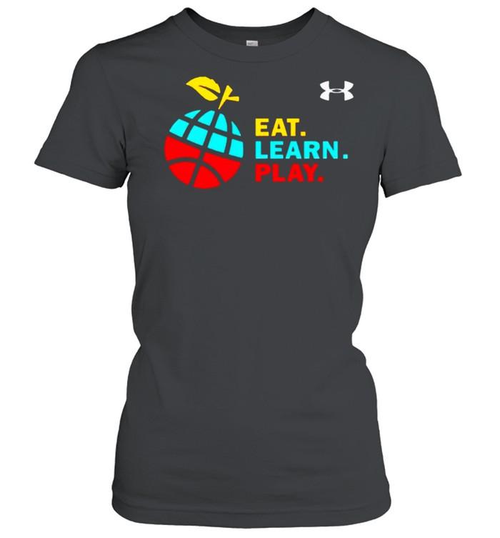 Stephen Curry eat learn play shirt Classic Women's T-shirt