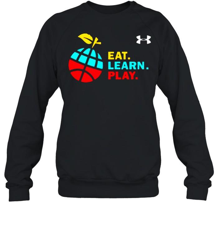 Stephen Curry eat learn play shirt Unisex Sweatshirt