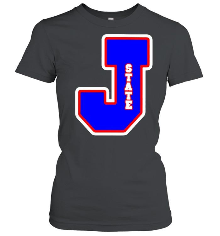 Jackson State Tigers J state letterman shirt Classic Women's T-shirt