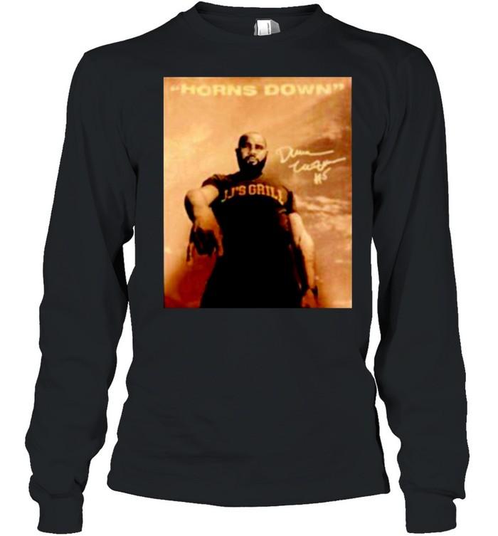 JJ's Grill horns down signature shirt Long Sleeved T-shirt