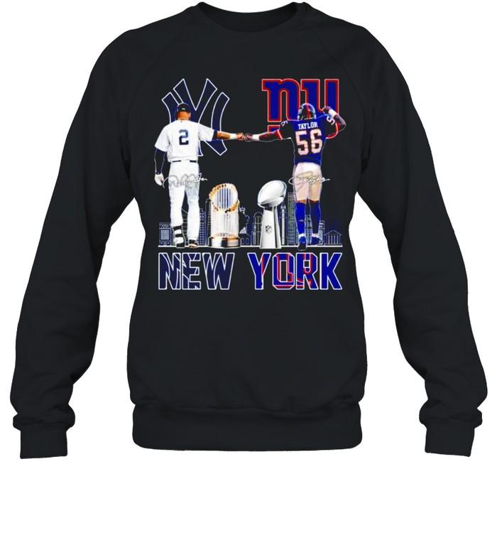 New York city champion Derek Jeter and Lawrence Taylor signatures shirt Unisex Sweatshirt