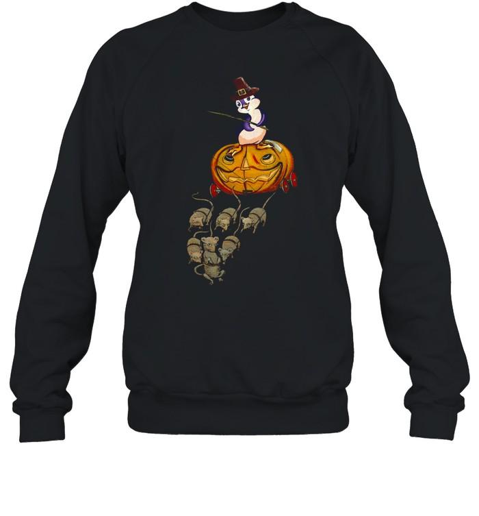 Penguin Funny Pumkin Cart shirt Unisex Sweatshirt