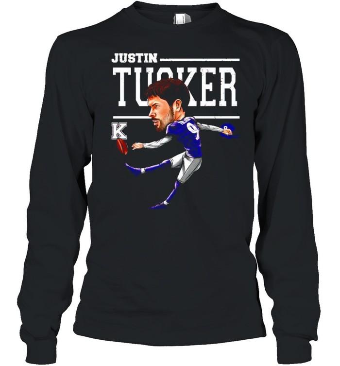 Baltimore Ravens Justin Tucker cartoon shirt Long Sleeved T-shirt