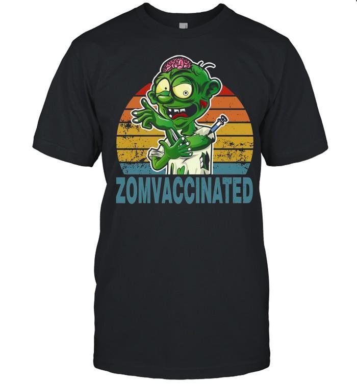Halloween 2021 Zombie Vaccinated shirt Classic Men's T-shirt