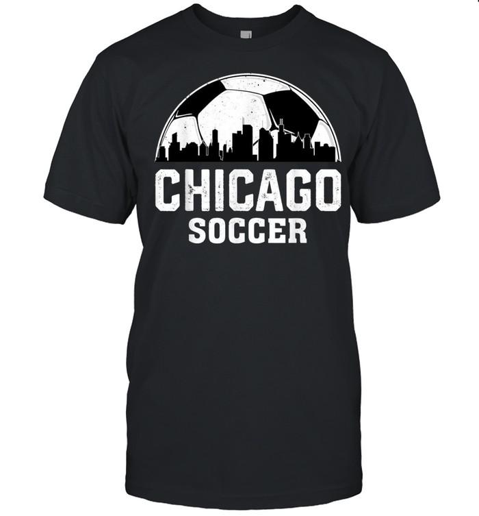 Retro Vintage Chicago City Soccer Football Sports shirt Classic Men's T-shirt