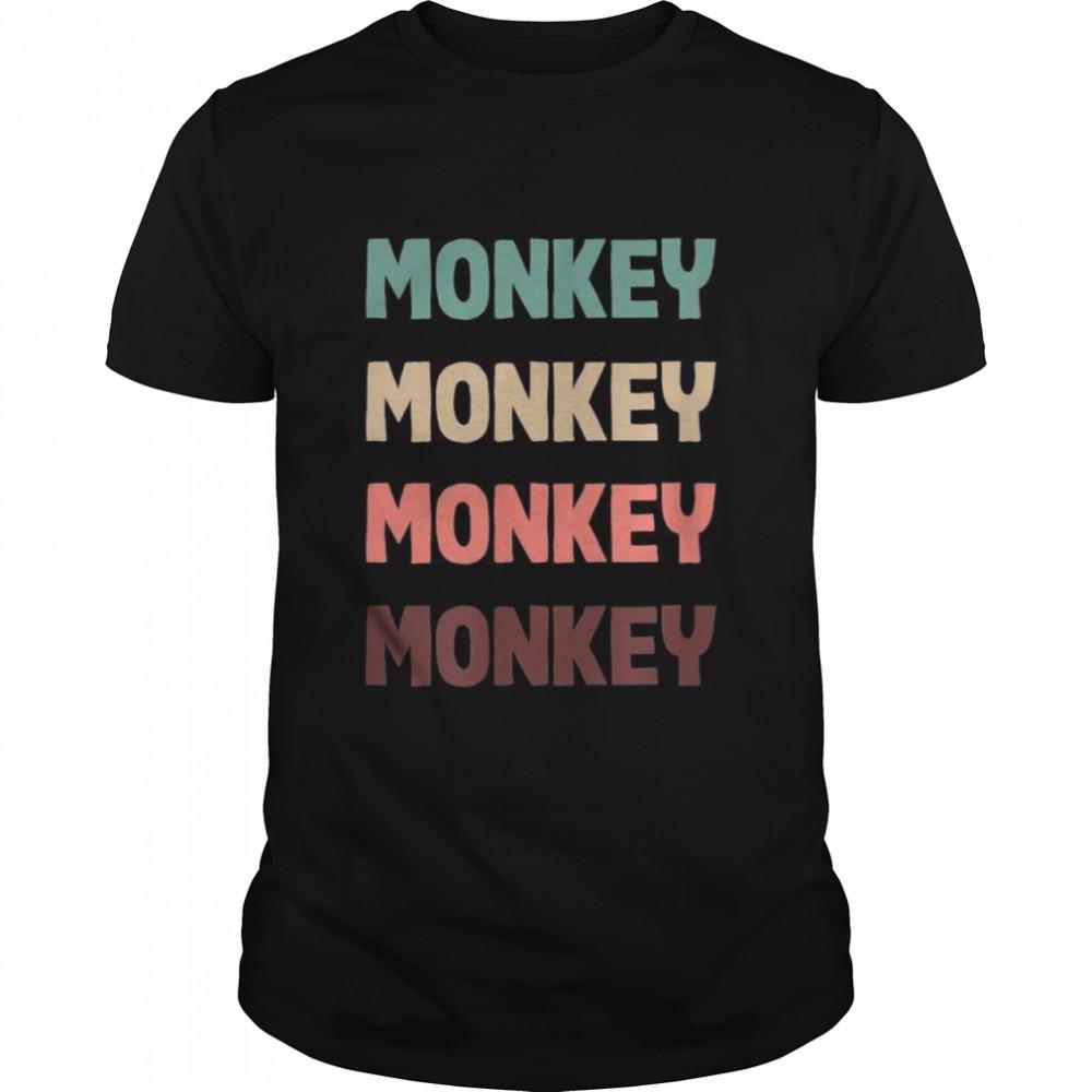 Monkey Retro Jungle Saying Vintage Wild Animals  Classic Men's T-shirt