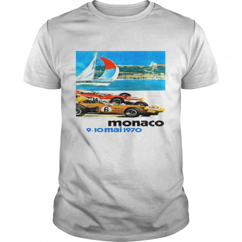 1970 Monaco Grand Prix racing sport shirt Classic Men's T-shirt