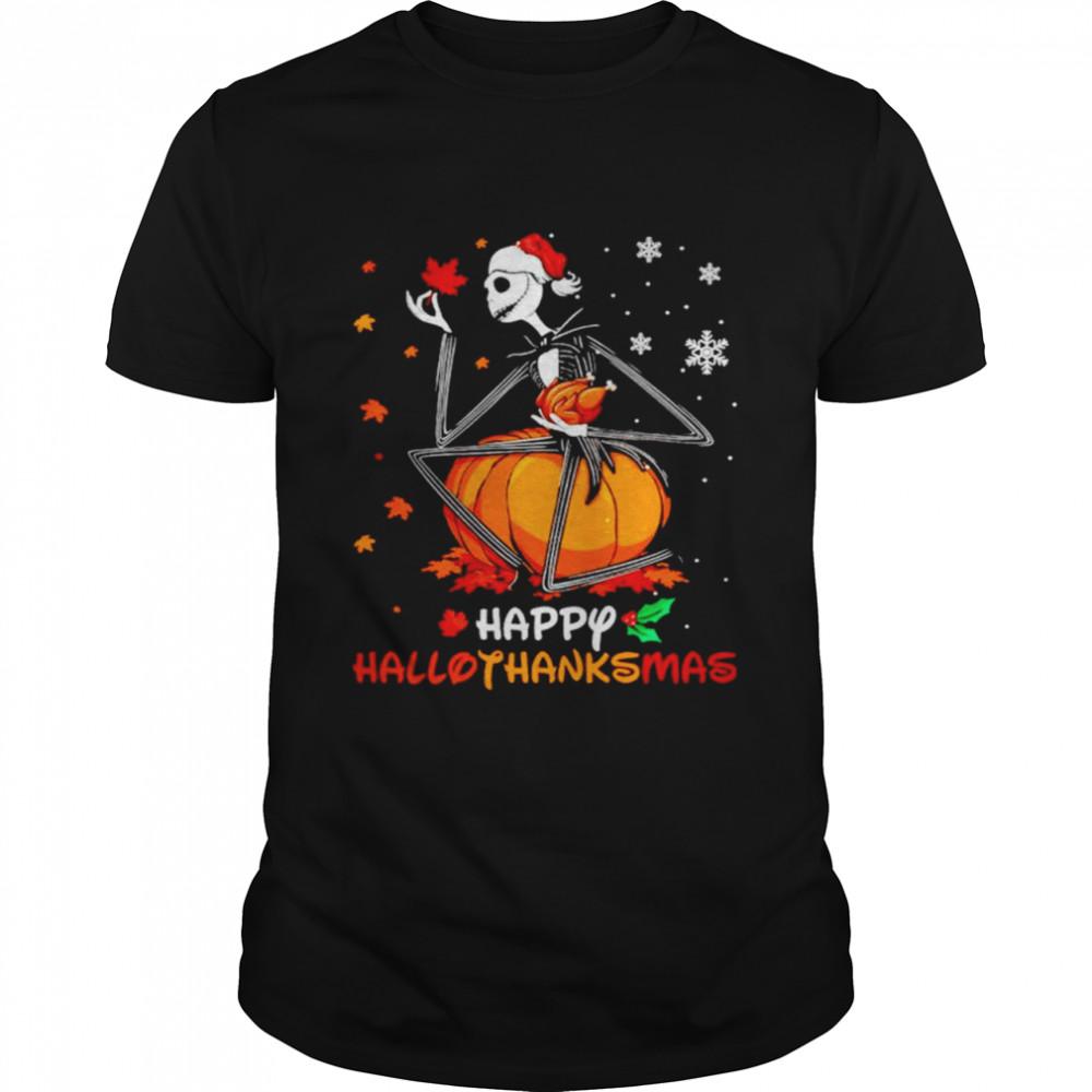 Jack Skellington Happy halloweenthanksmas Thanksgiving T-shirt Classic Men's T-shirt