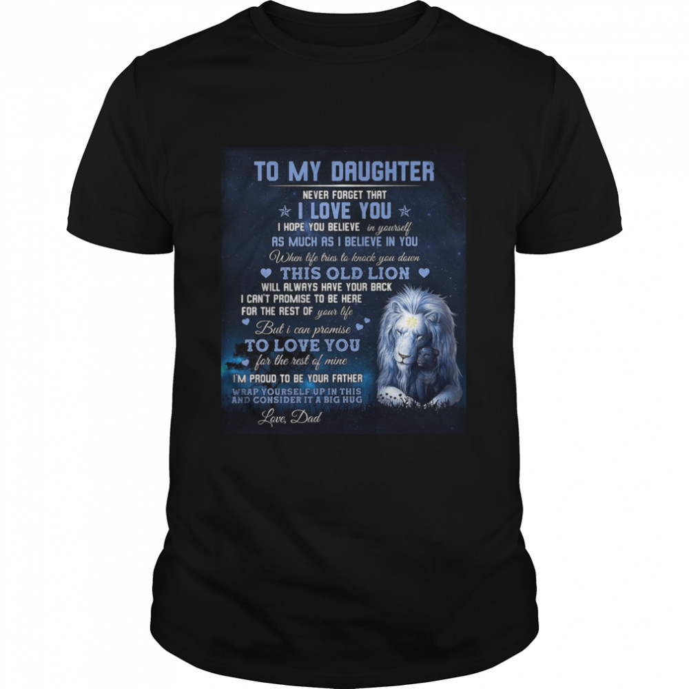 to My Daughter Gift from Dad Christmas Birthday Thanksgiving Flannel Soft Bed Blanket  Classic Men's T-shirt