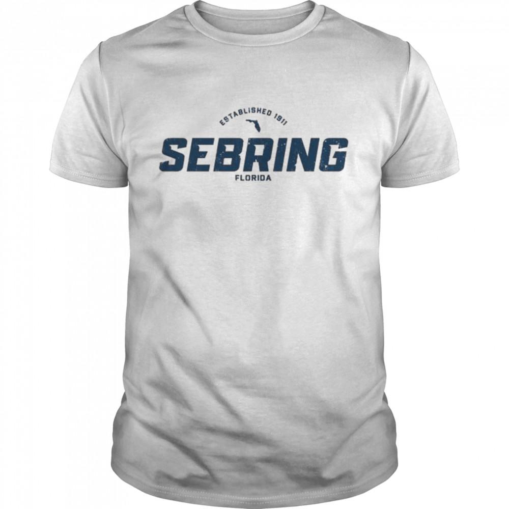 Sebring Florida FL Vintage Athletic Navy Sports Logo  Classic Men's T-shirt