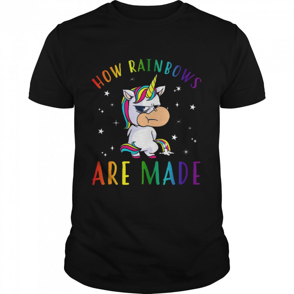 Unicorn aHow Raibows Are Made  Classic Men's T-shirt