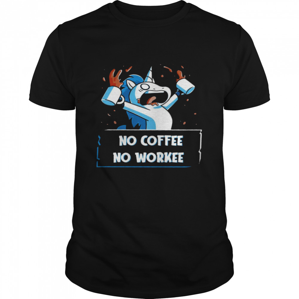 Unicorn No coffee no workee shirt Classic Men's T-shirt