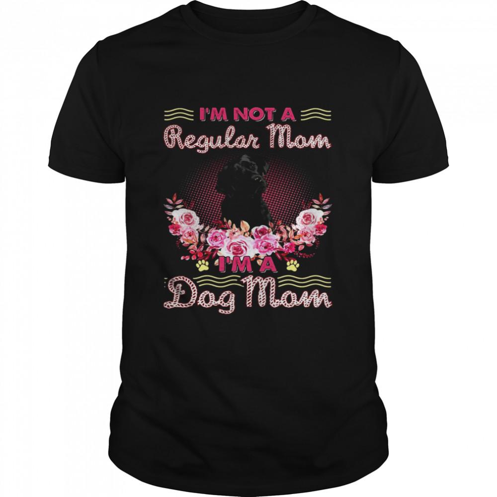 Black Labrador I'm Not A Regular Mom I'm A Dog Mom  Classic Men's T-shirt
