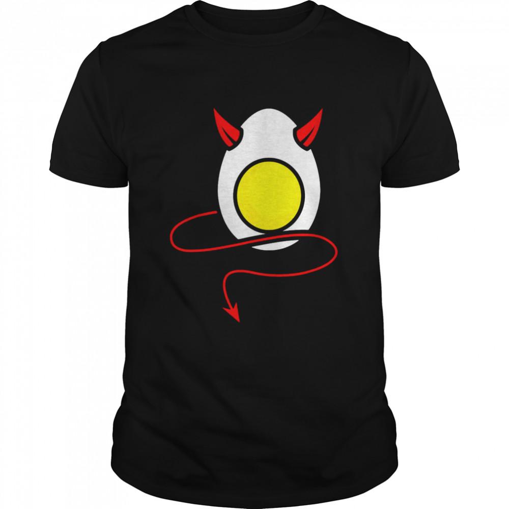 Deviled Egg Halloween Cool Boiled Egg  Classic Men's T-shirt