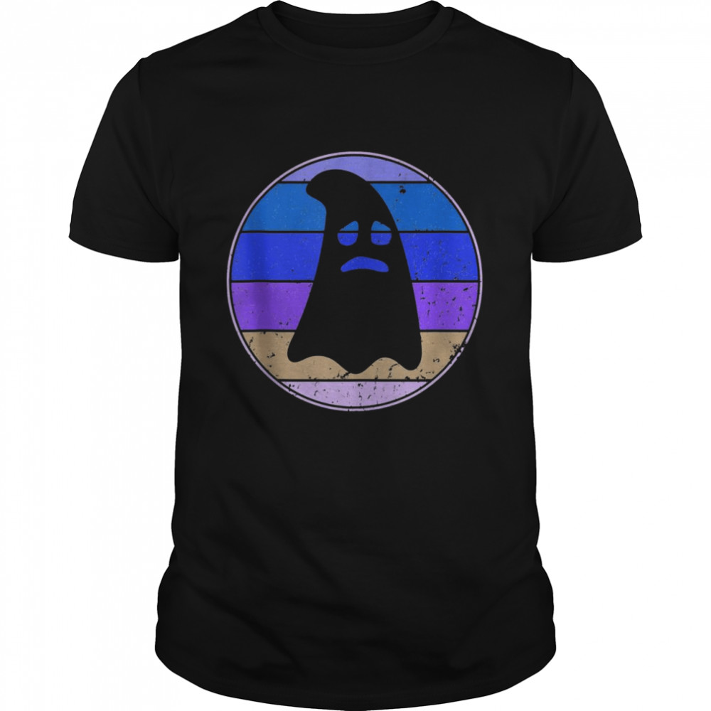 Ghost Halloween Party Retro Sunset 60s 70s  Classic Men's T-shirt