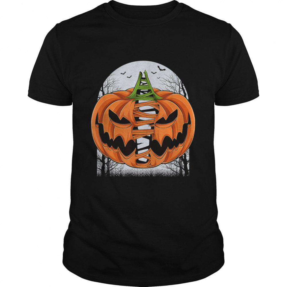 Halloween Scary Pumpkin Face Costume T- Classic Men's T-shirt
