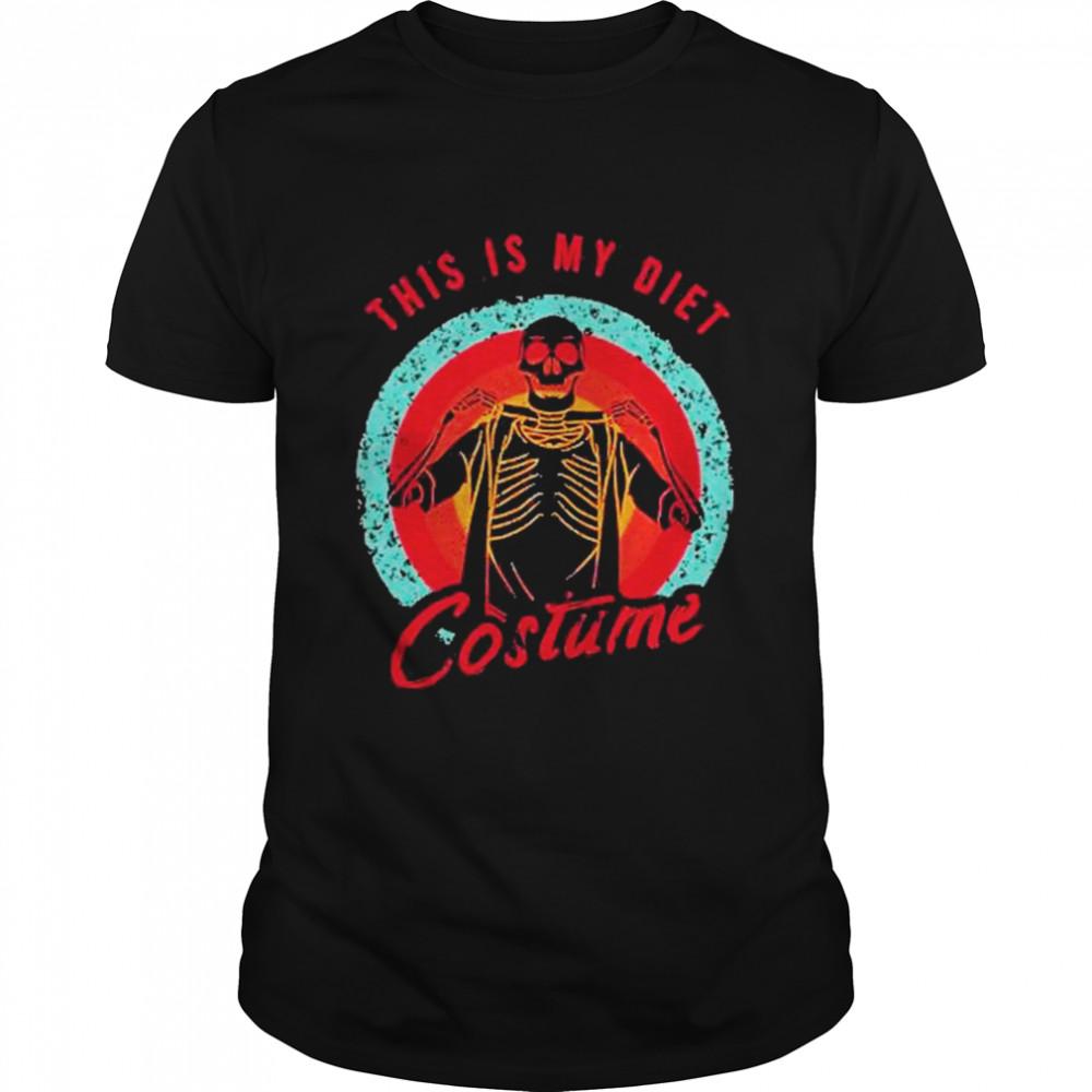Halloween Skeleton This Is My Diet Costume Vintage shirt Classic Men's T-shirt
