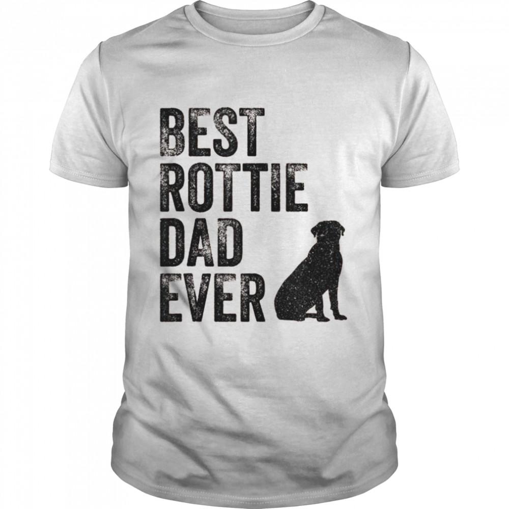 Retro Best Rottie Dad Ever Rottweiler Daddy Dog Owner  Classic Men's T-shirt