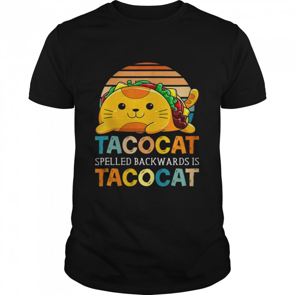 Taco Cat Spelled Backwards Is TacoCat Cinco de Mayo  Classic Men's T-shirt