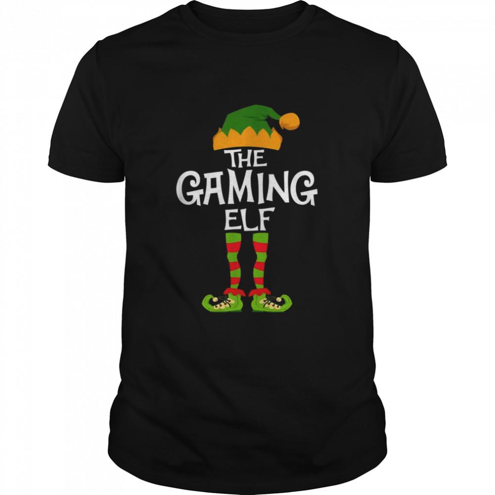 Christmas Elf Matching Family Pajama, The Gaming Elf  Classic Men's T-shirt