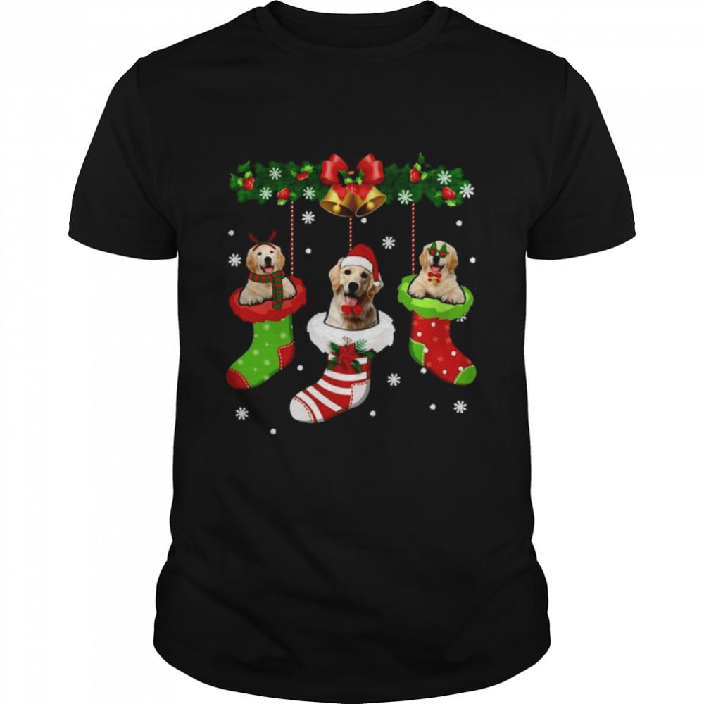 Labrador Christmas Tree Socks Dog Xmas  Classic Men's T-shirt