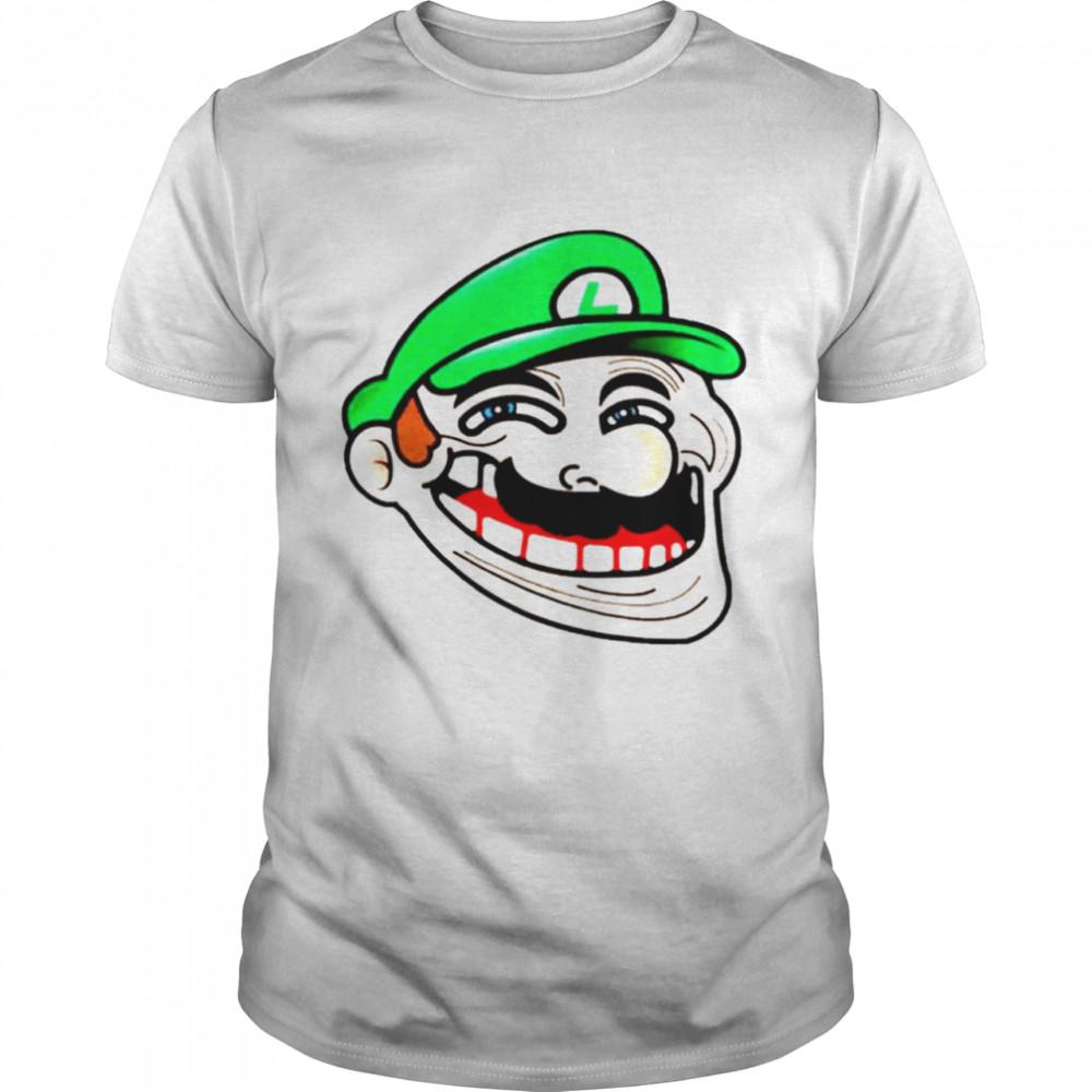 Awesome luigi Super Mario Meme shirt Classic Men's T-shirt