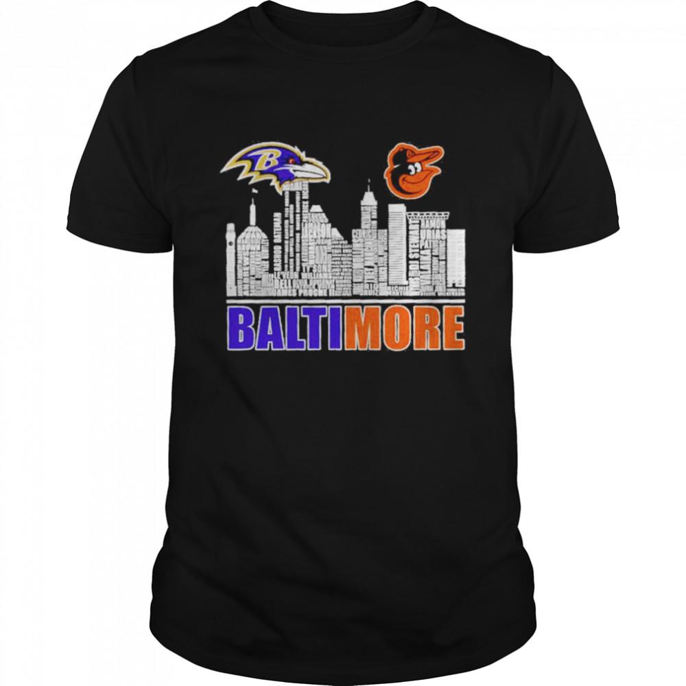 Baltimore Ravens And Baltimore Orioles Baseball Baltimore City  Classic Men's T-shirt
