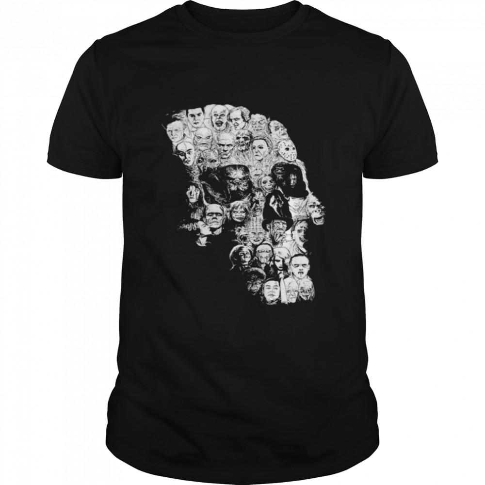Horror Skull Characters  Classic Men's T-shirt