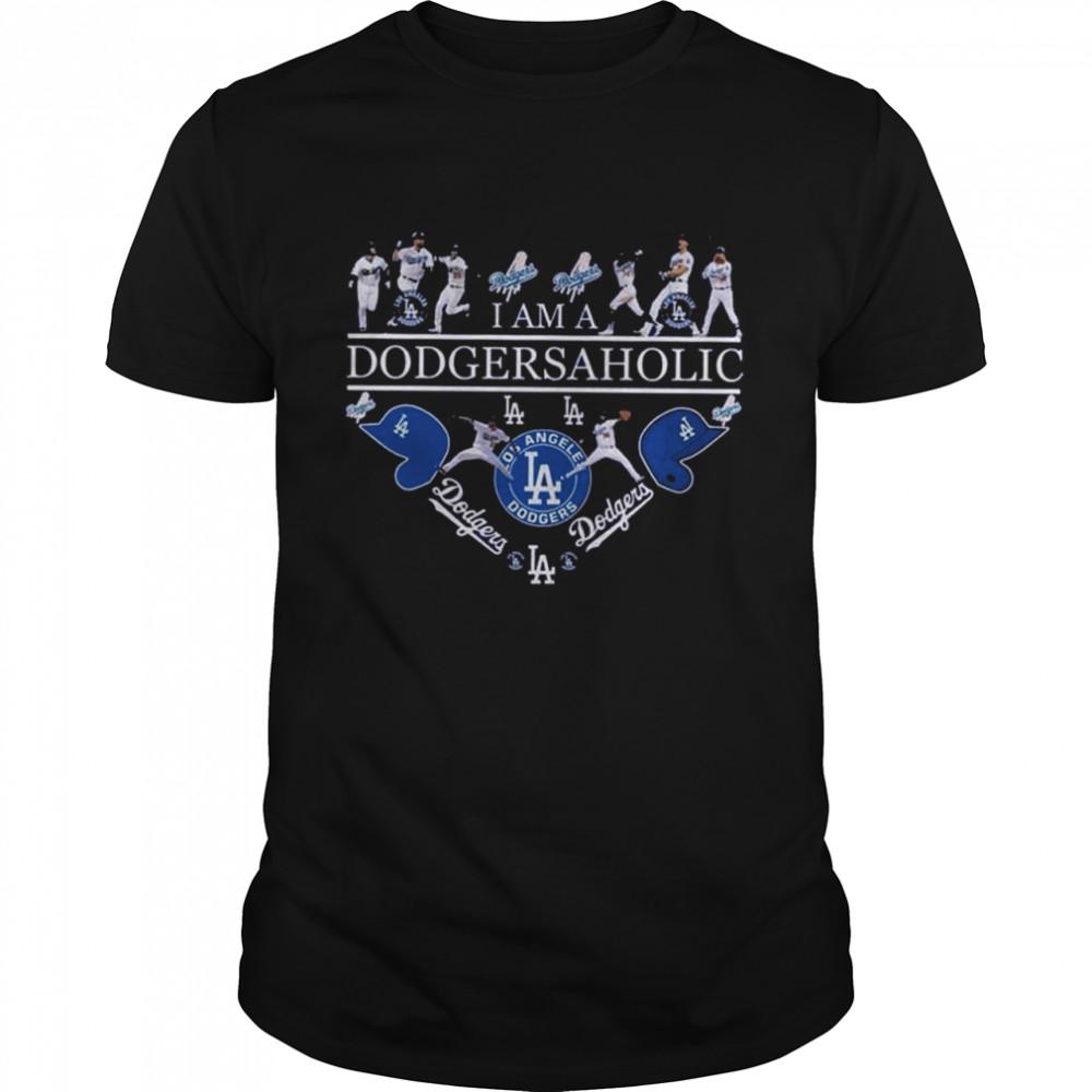I Am A Dodgersaholic Los Angeles Dodgers 2021 shirt Classic Men's T-shirt