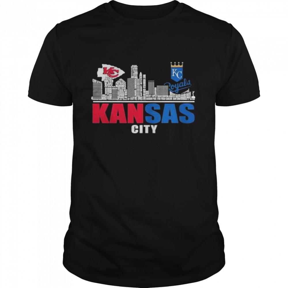 Kansas City Chiefs And Kansas City Royals Baseball Kansas City  Classic Men's T-shirt